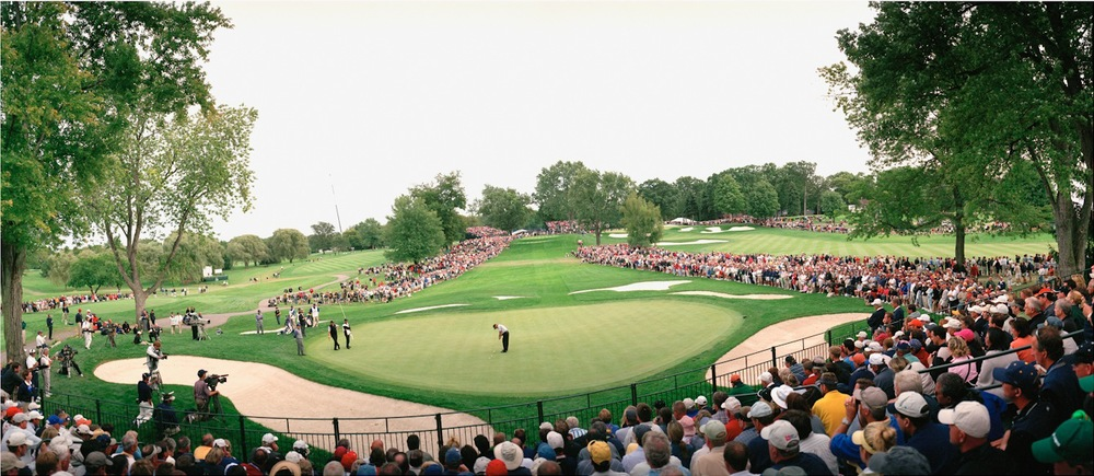 USA, Oakland, Ryder Cup, Thomas Levet putting, 2004