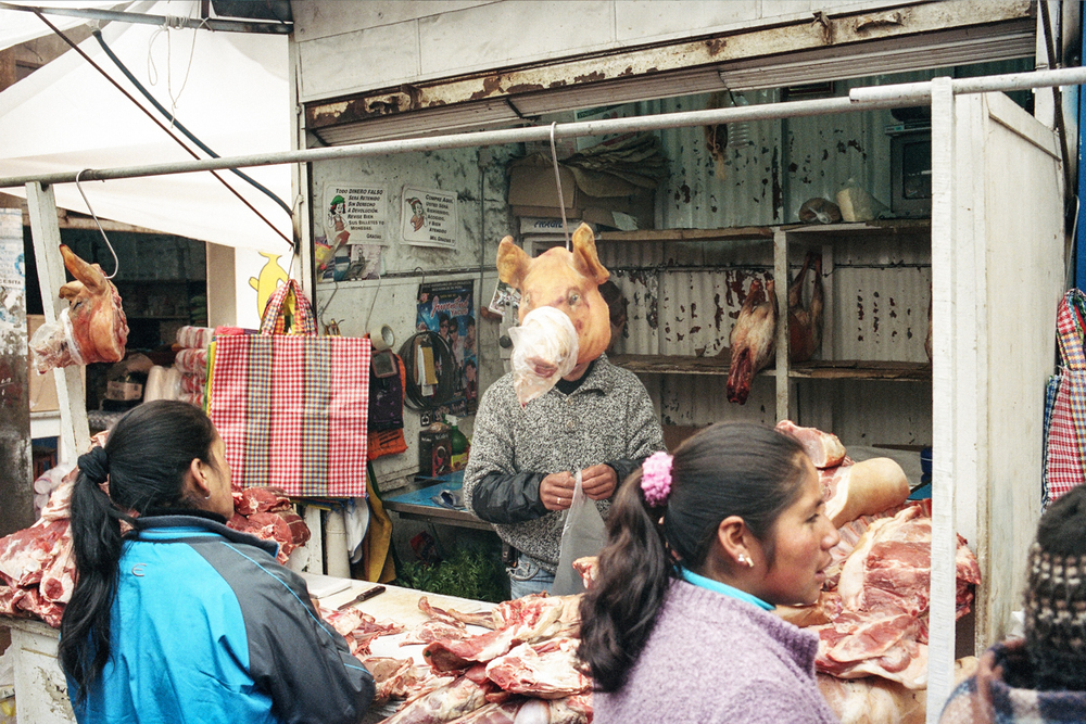 Meat Market, Cerro de Pasco, Peru, 2012.