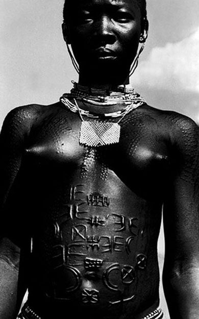Scarification - The Nuba Mts, 1994