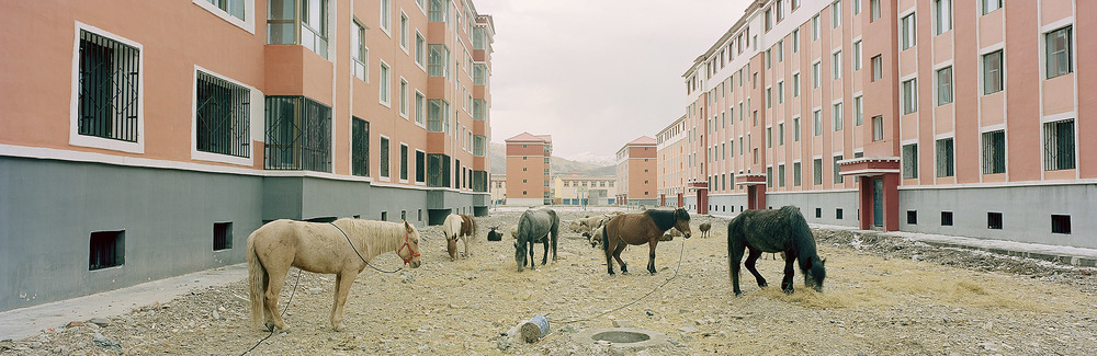 New residential development. Guide, Qinghai, China. 2014.