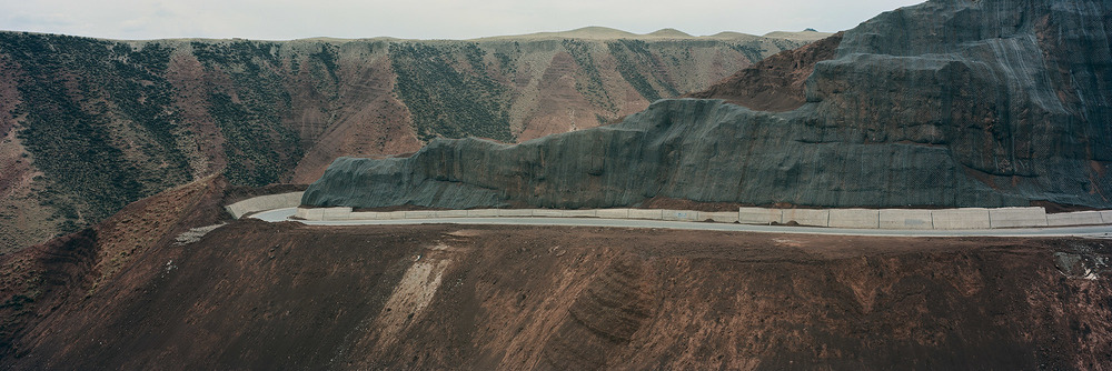 Road Construction. Sanjiangyuan National Nature Reserve, Golog Tibetan Autonomous Prefecture, Qinghai, China. 2014.