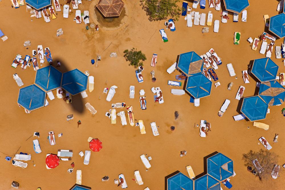 Sun Bathers, Dead Sea, Israel.