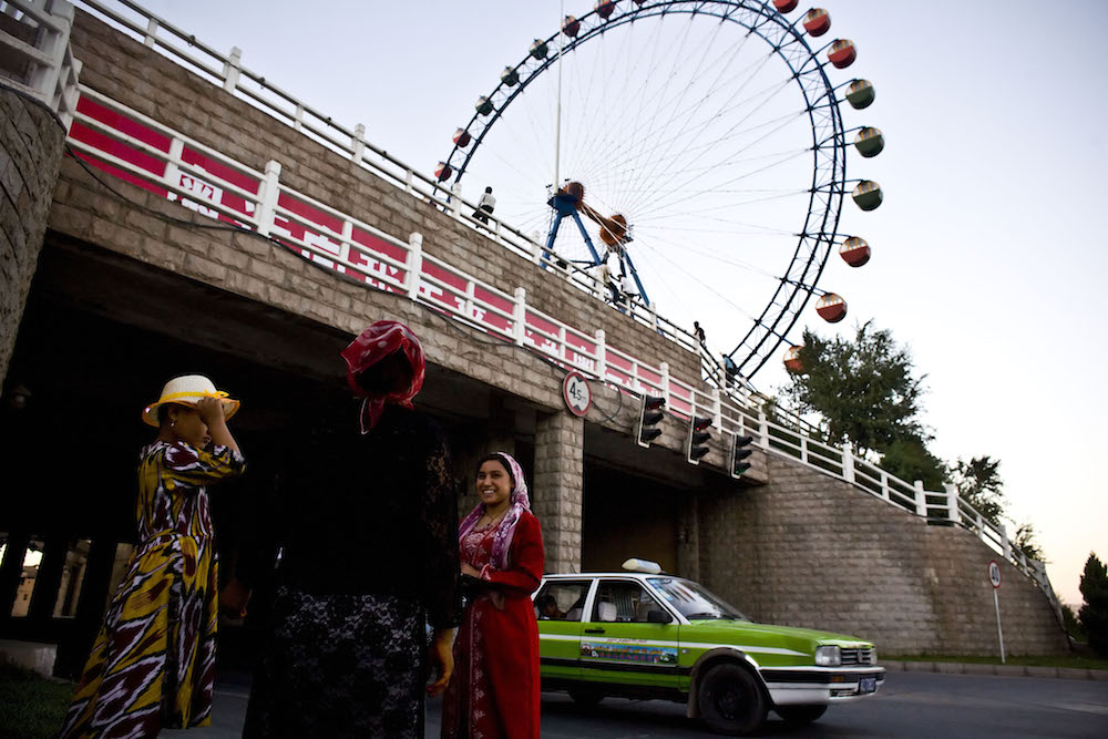 People make their way through the streets as life returns normal in Kashgar, western China's Xinjiang province, Tuesday, Aug. 5, 2008.  Inquire about this image