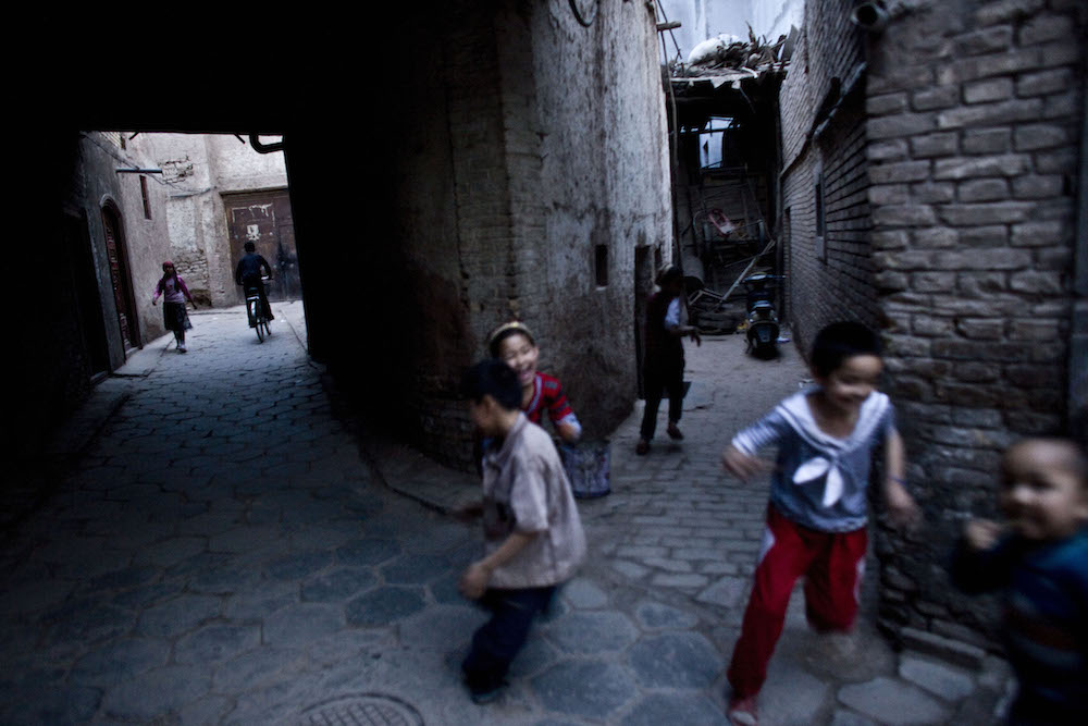 Children play in old city in Kashgar, China, May 5, 2009.   Inquire about this image