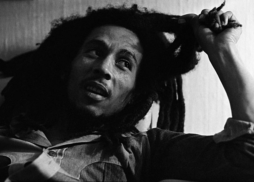 Natty Dreads, Bob Marley at home (Tuff Gong) in Kingston, Jamaica, March 1976.  Inquire about this image