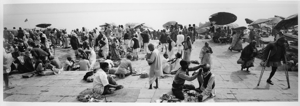 Shaving on the Ghats, 1999.