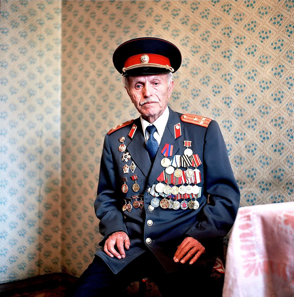 Sergey Abgorian. A WWII Armenian veteran who fought in the Red Army, mostly in the Caucasus fighting against Chechen separatists.  Inquire about this image