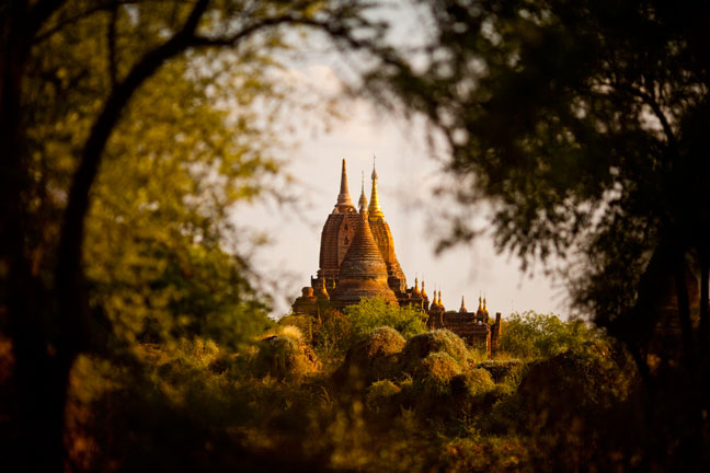 Bagan, located in central Myanmar, is a popular tourist destination with over 2,000 temples and pagodas.  Inquire about this image