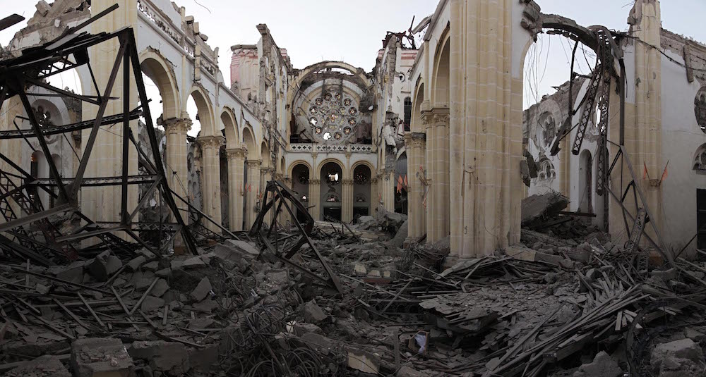 A view of the interior of the Cathedral in the heart of Port-au-Prince. January 21, 2010.  Inquire about this image