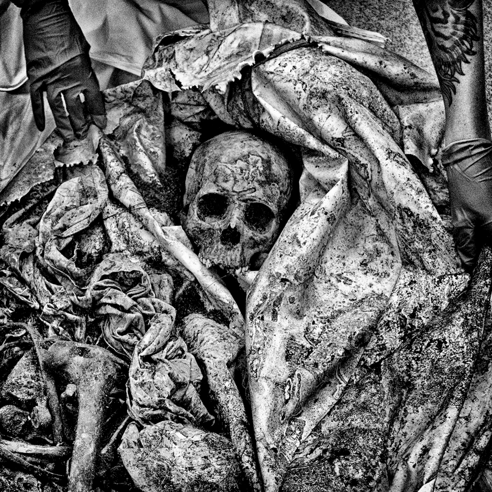 The remains of an unidentified migrant discovered in Brooks County, Texas.  Inquire about this image