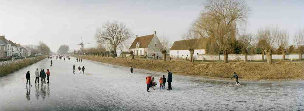 Belgium, Damme, Skating on the Canals, 2010