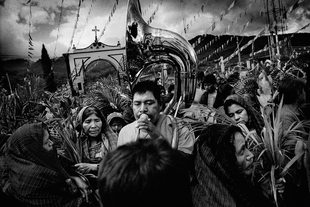 Villagers celebrate their town's Saint's Day. San Miguel Cuevas, Mexico. 2006.   Inquire about this image