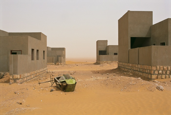 Deserted Bedouin resettlement camp, Hazar, Yemen, 2004.   Inquire about this image