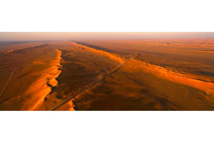 Road to Sharurah, Shaqqat al Kharitah, Saudi Arabia,2002.   Inquire about this image