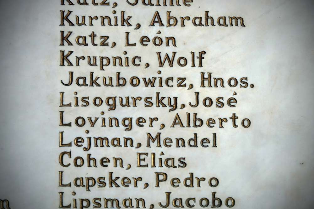 Names of Beth Shalom congregants.  Inquire about this image