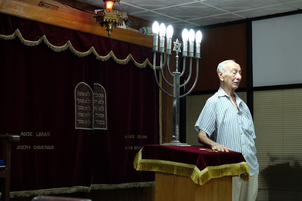 A member of the Sefarati Synagogue takes part in Shabbat.   Inquire about this image