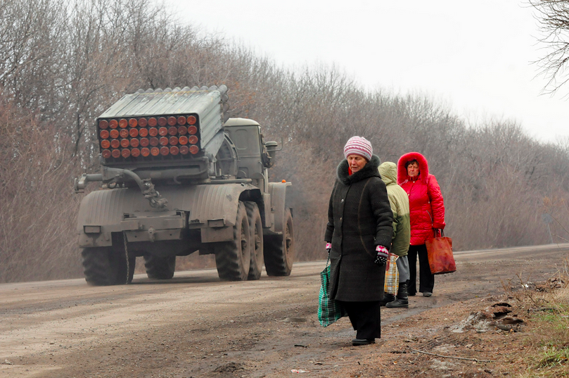 February 5, 2015, North of Debaltseve, Donbass Oblast, Ukraine.