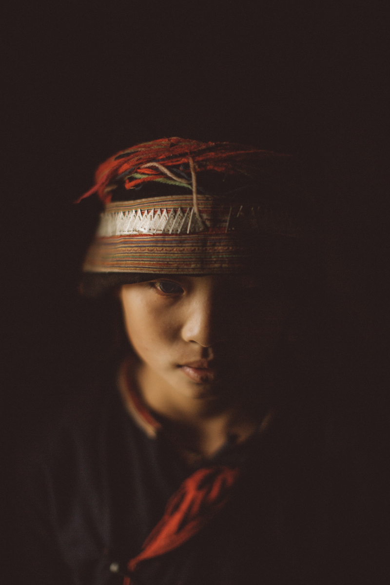 A portrait of a Hmong girl in the northern province of Ha Giang, Vietnam.   Inquire about this image