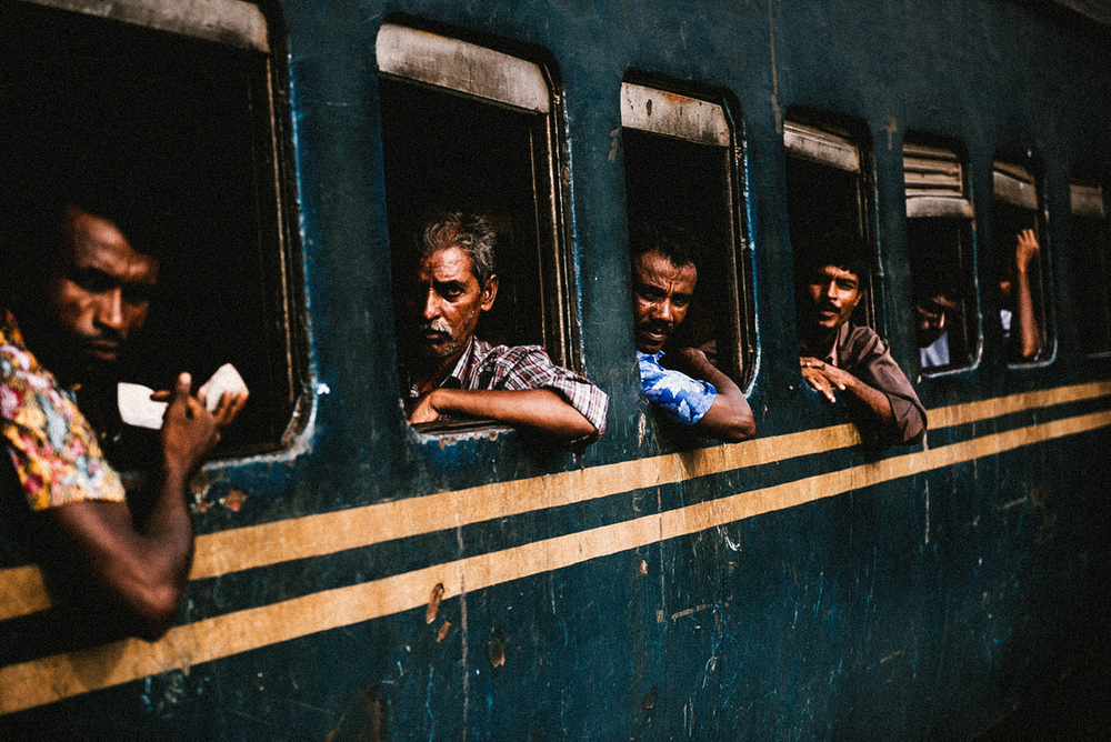 A view of the crowded train station in Ishwardi, Bangladesh. This past March, a violent protest occurred at the Ishwardi EPZ.   Inquire about this image