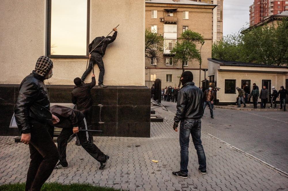 Pro-Russian Protestors, Donetsk, Ukraine, 2014.