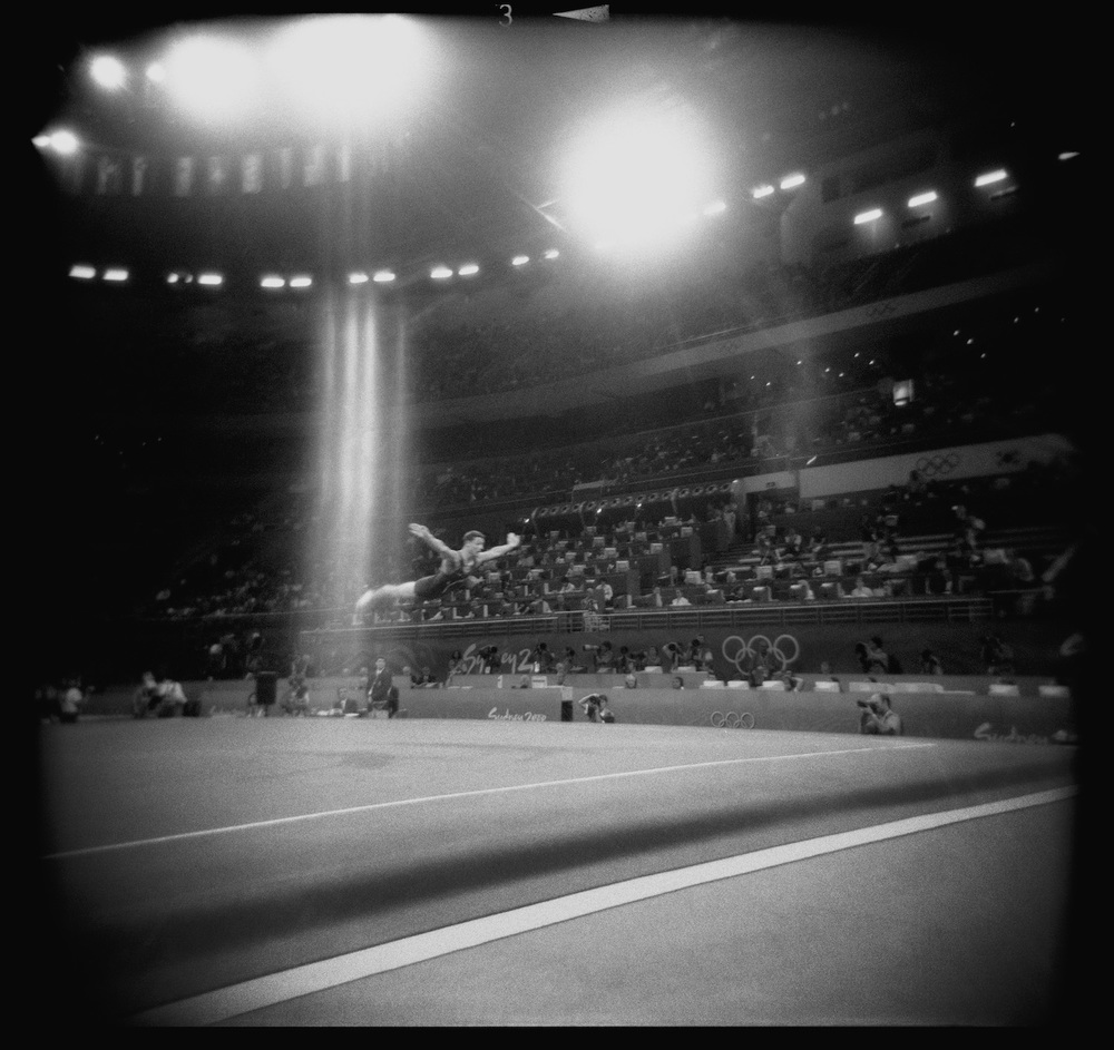 Men's Gymnastics. Sydney, Australia, September 2000.  Inquire about this image