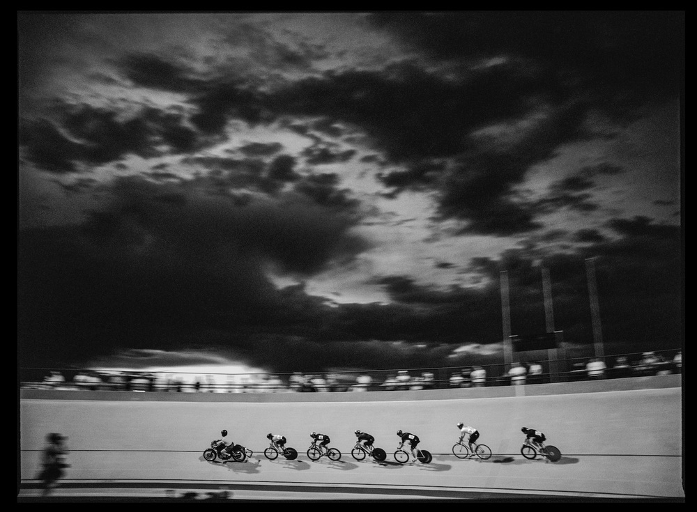 Men's Keirin. Colorado Springs, Colorado, USA, July 1995.  Inquire about this image
