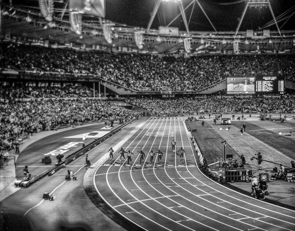 Men's 100m. London, United Kingdom, August 2012.  Inquire about this image