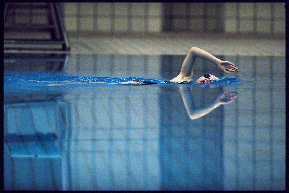 Synchronized Swimming. Seoul, South Korea, September 1988.  Inquire about this image
