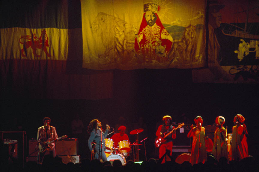 Roots, Rock, Reggae, Exodus Tour, Belgium, May 1977.  Inquire about this image