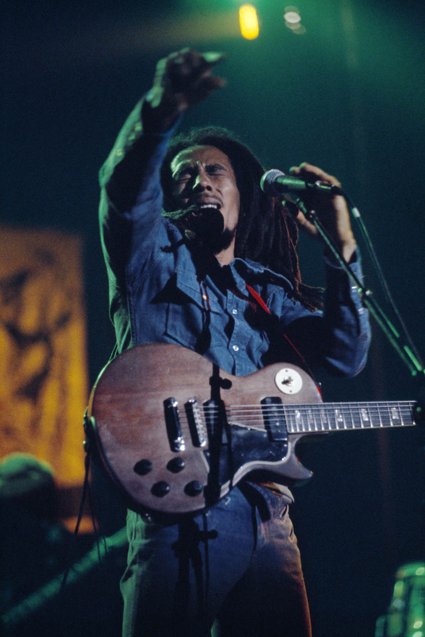 Rebel Music, Bob Marley and The Wailers in Brussels, Belgium, on their Exodus Tour in Europe, May 11 1977.  Inquire about this image