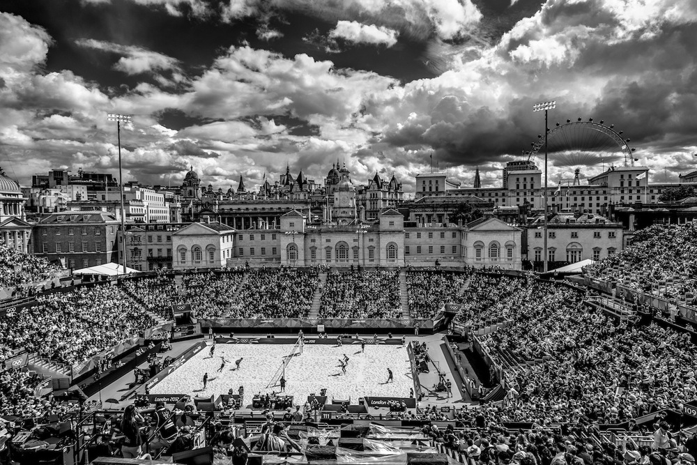 Men's Beach Volleyball. London, United Kingdom. July 2012.  Inquire about this image