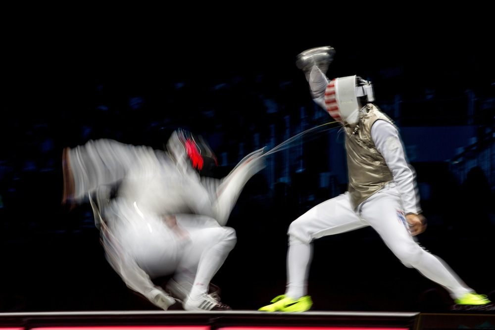 Men's Team Foil. London, United Kingdom, August 2012.  Inquire about this image