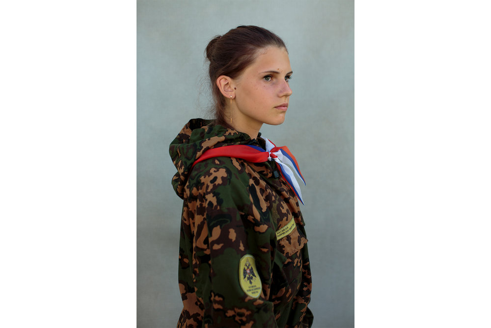 Alina Klikova (14) from Medin. Военно-Исторический Лагерь Бородино 2016, the Historical-War Camp in Borodino, Russia.  Inquire about this image