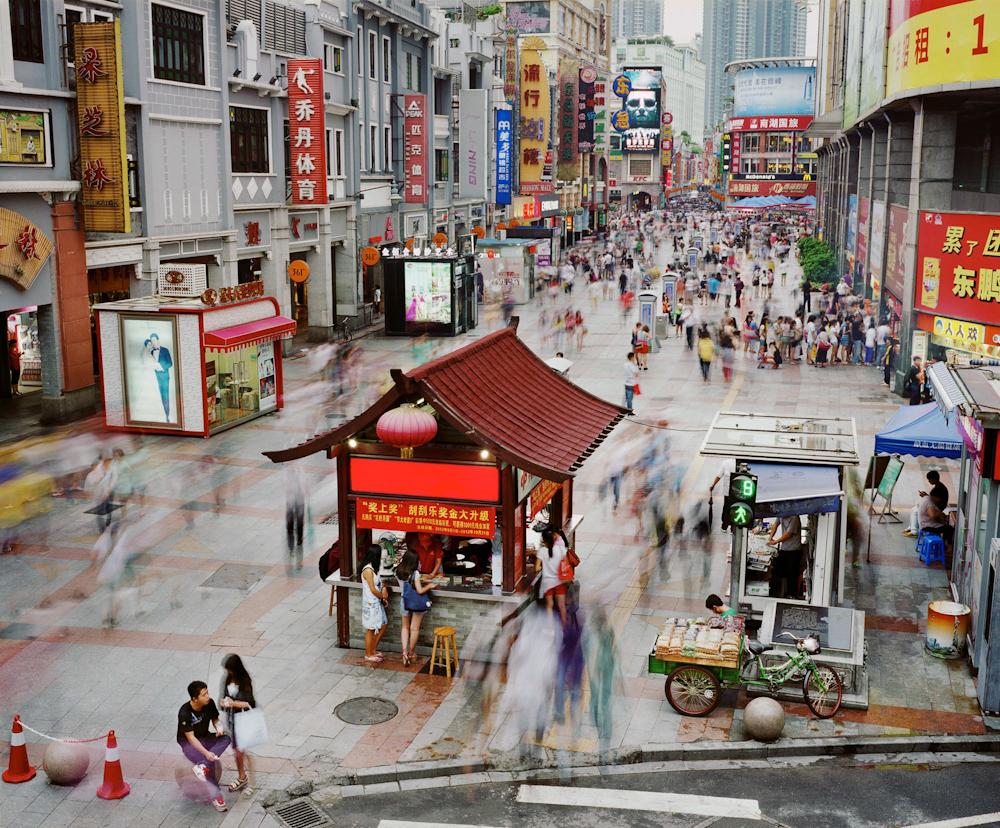 Shangxiajiu Pedestrian Street, Liwan District, Guangzhou, China, 2012.