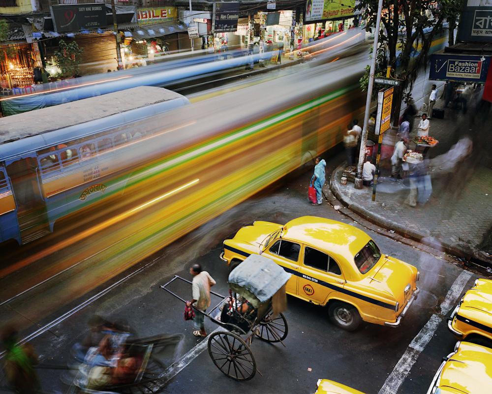 Madan Street and Lenin Sarani, Chandni Chowk, Kolkata, India, 2008.