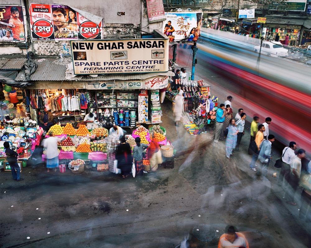Chandni Chowk Street and Lenin Sarani, Chandni Chowk, Kolkata, India, 2008.