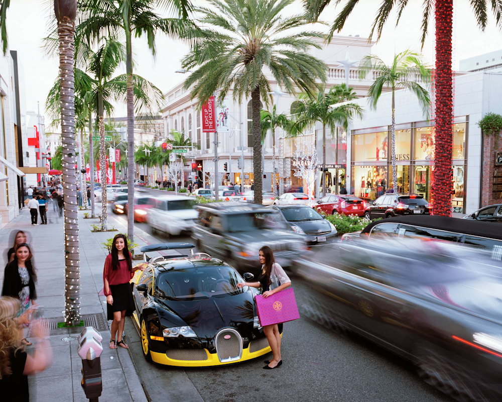 Rodeo Drive, Beverly Hills, Los Angeles, USA, 2013.
