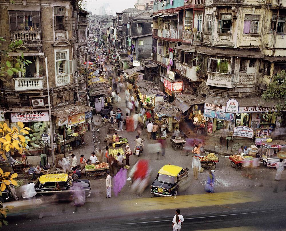 Sardar Vallabhbhai Patel Road and SS Maharaj Marg, Kamathipura, Mumbai, India, 2007.