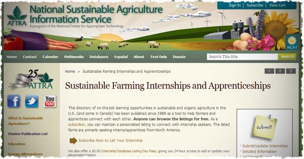 Sustainable Farming Internships and Apprenticeships   Begin  ATTRA   National Sustainable Agriculture Information Service