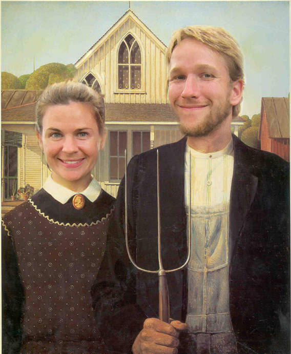 american foodcyclist gothic