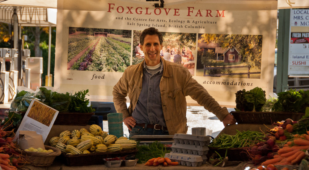 """Another farmer hero of mine, Michael Ableman, manning his farm stand. Check out the book """"Fields of Plenty"""""""