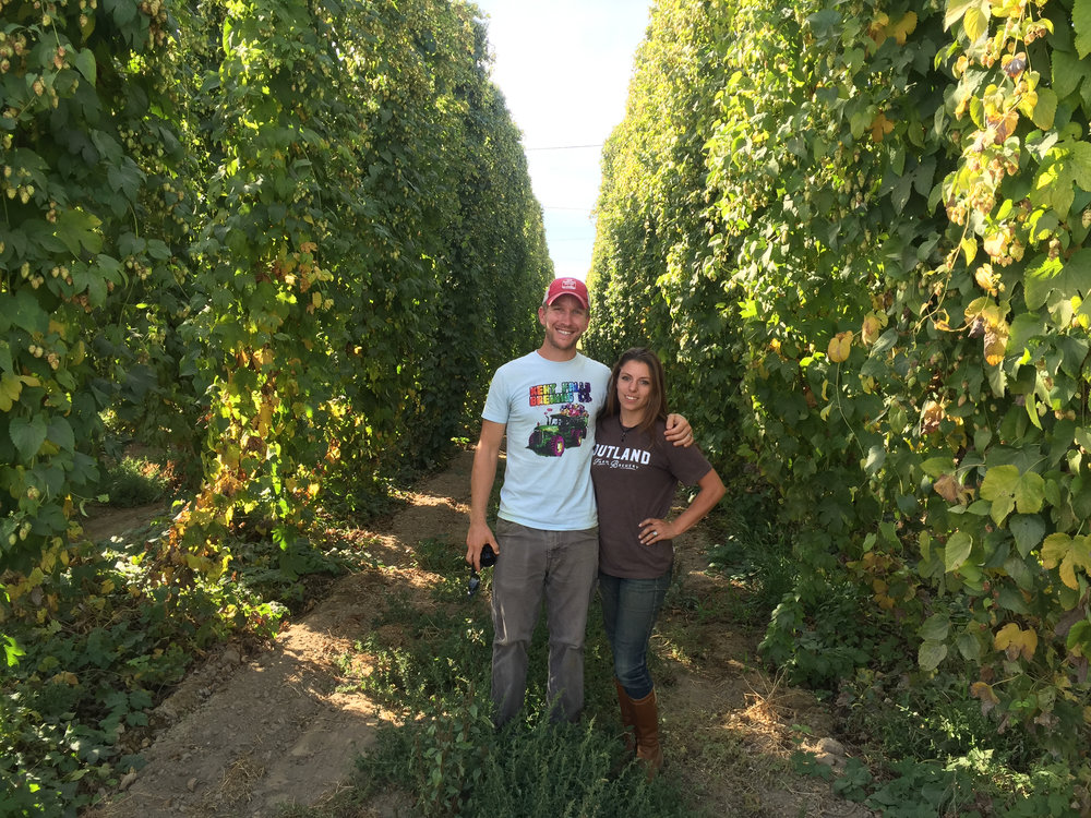 I got to travel to Yakima Valley to look at hops and met up with my friend Heather of Outland Farm and Brewery