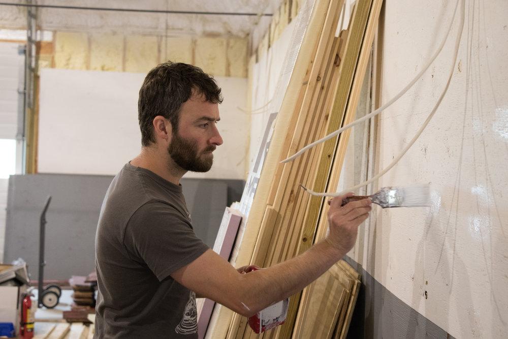 Even our Brew Master Derek was in there painting. Thanks Derek.