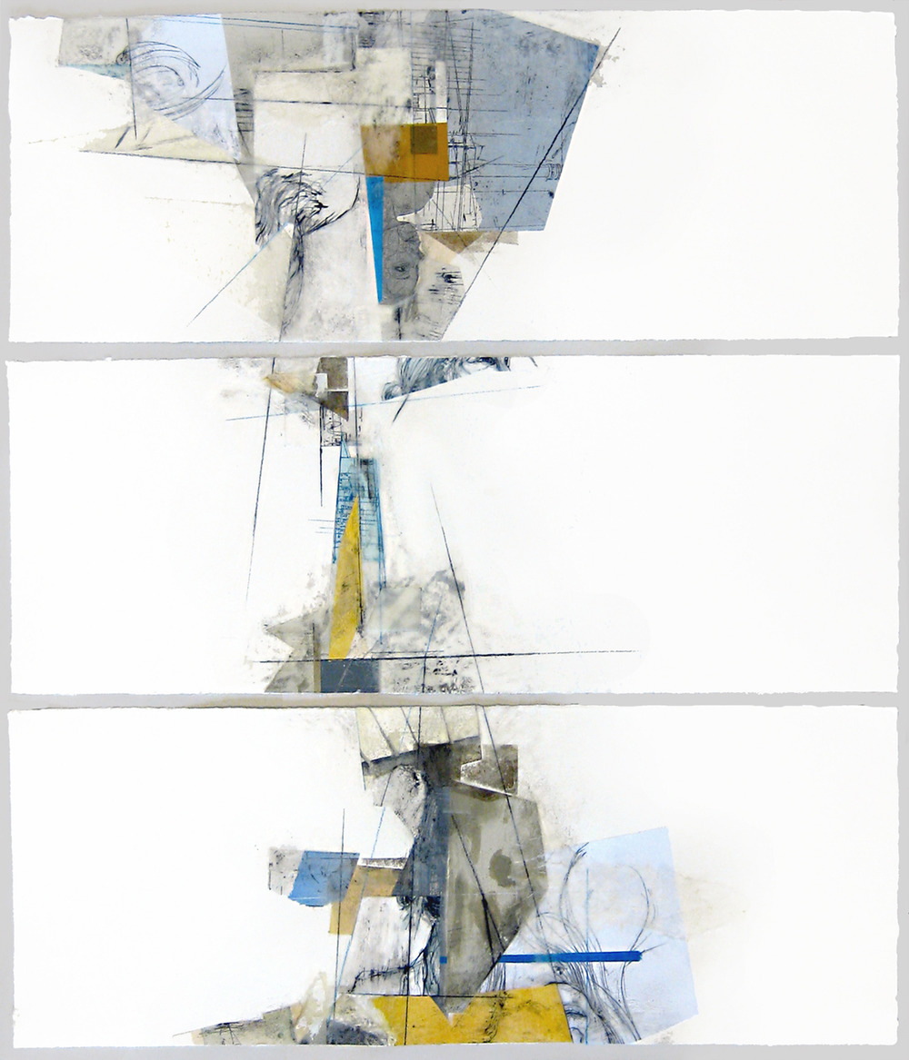 Structure II, 2012, mixed media, 33 x 30in