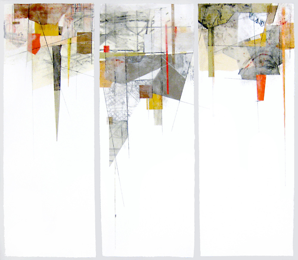 Structure III, 2012, mixed media, 30 x 33in