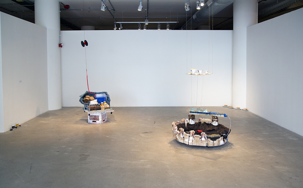Installation view, Surface Tension,2014.