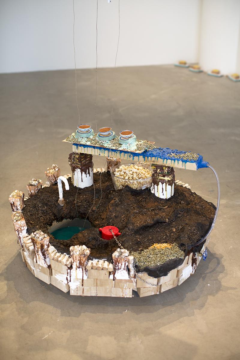 Off-Season Harvest for Non-Revolutionary Ideas (detail), 2014, multimedia installation