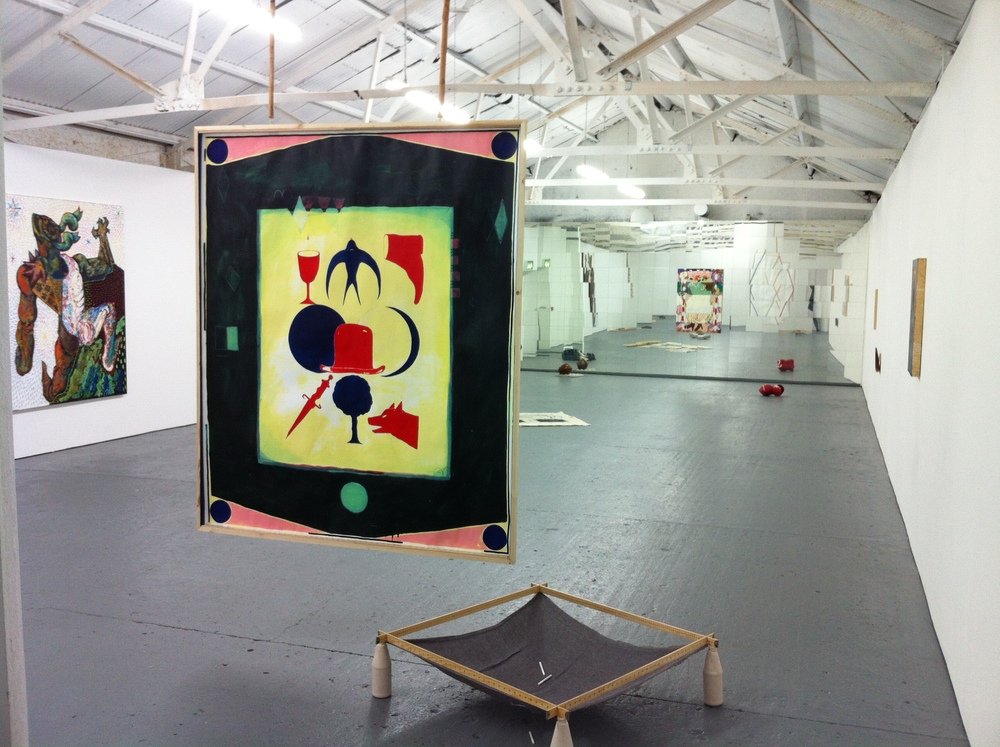 """""""If It Bends It's Funny"""" installation view at Bosse & Baum, London. December 2015."""