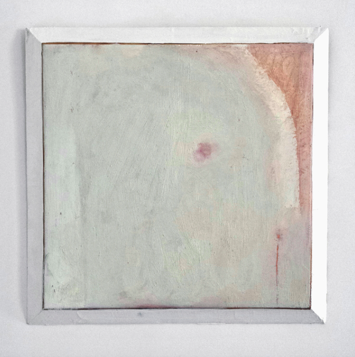 Burnthrough, 2015, oil on marble ground on panel, 11 x 11in