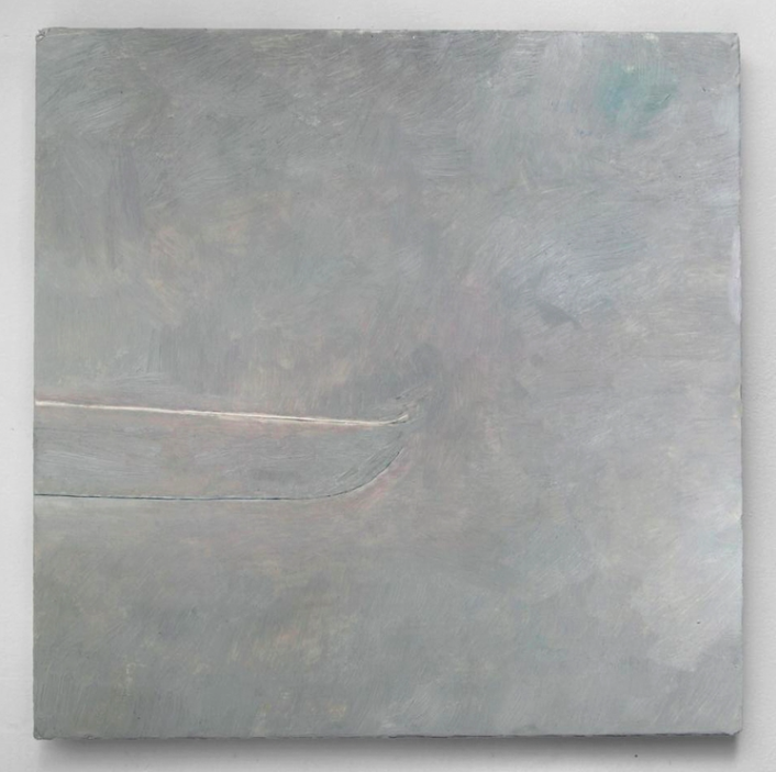 Untitled, 2015, oil on marble ground on panel, 17 x 17in